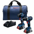 18V 2-Tool Combo Kit with Connected-Ready 1/4 In. Hex Impact Driver, Connected-Ready Compact Tough 1/2 In. Drill/Driver and (2) CORE18V 4.0 Ah Batteries