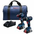 18V 2-Tool Combo Kit with Connected-Ready Freak 1/4 In. and 1/2 In. Two-In-One Impact Driver, Connected-Ready Compact Tough 1/2 In. Hammer Drill/Driver and (2) CORE18V 4.0 Ah Compact Batteries