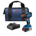 18V EC Brushless 1/4 In. and 1/2 In. Two-in-One Bit/Socket Impact Driver Kit with 2.0 Ah SlimPack Battery