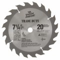 7-1/4 In. 20 Tooth Trade Duty™ Series Carbide Tipped Circular Saw Blade