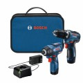 12V Max 2-Tool Combo Kit with 3/8 In. Drill/Driver, 1/4 In. Hex Impact Driver and (2) 2.0 Ah Batteries