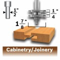 1-7/8 In. x 1/4 In. Carbide-Tipped Tongue and Groove Router Bit