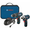 12V Max 2-Tool Combo Kit with 3/8 In. Hammer Drill/Driver, Impact Driver and (2) 2.0 Ah Batteries
