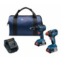 18V 2-Tool Combo Kit with 1/2 In. Hammer Drill/Driver, Freak 1/4 In. and 1/2 In. Two-In-One Bit/Socket Impact Driver and (2) 2.0 Ah SlimPack Batteries