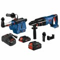18V EC Brushless SDS-plus® Bulldog™ 1 In. Rotary Hammer Kit with Mobile Dust Extractor and (2) CORE18V Batteries