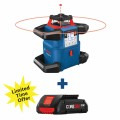 18V REVOLVE4000 Connected Self-Leveling Horizontal/Vertical Rotary Laser Kit with (2) CORE18V 4.0 Compact Batteries