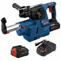 18V Brushless SDS-plus® Bulldog™ 1 In. Rotary Hammer Kit with Dust-Collection Attachment and (2) CORE18V 8.0 Ah PROFACTOR Performance Batteries