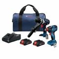 18V 2-Tool Combo Kit with 1/2 In. Hammer Drill/Driver, 1/4 In. and 1/2 In. Impact Driver and (2) CORE18V 4.0 Ah Compact Batteries